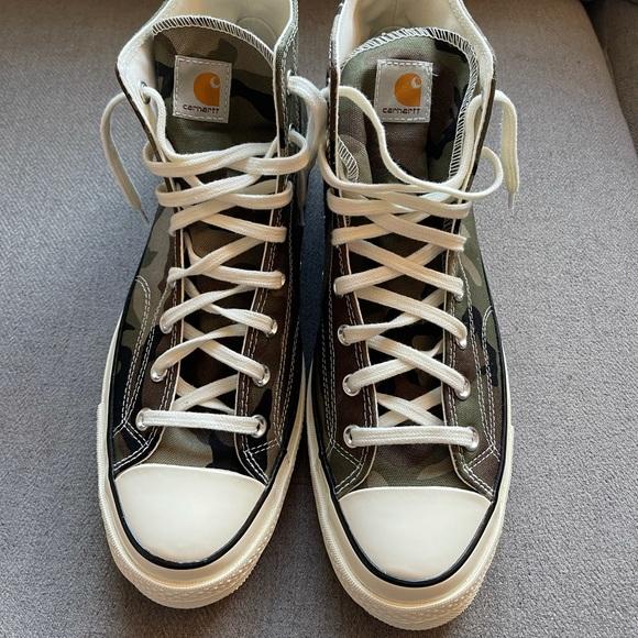 Brand New Converse x Carhartt Camo High Tops-Sz 12